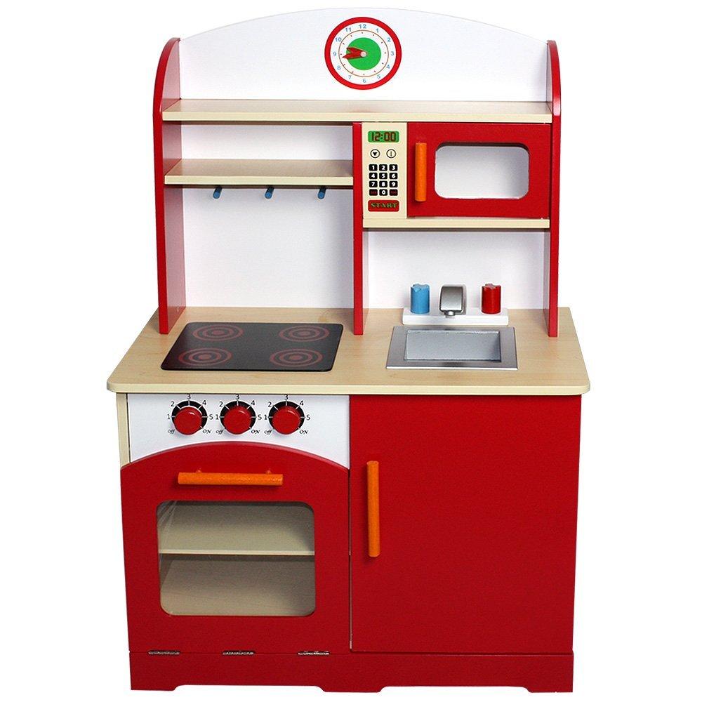Realistische Kinderküche aus Holz